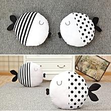 Cute Dot Stripe Kiss Fish Throw Pillow Cotton Cloth Sofa Car Bedding Cushion Home Decoration