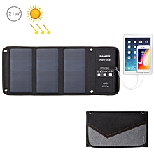 HAWEEL 21W Foldable Solar Panel Charger with 5V 2.9A Max Dual USB Ports