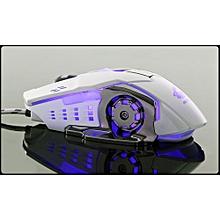 Wired LED Light 4000DPI Optical Usb Ergonomic Pro Gamer Gaming Mouse Metal Plate