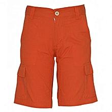 Orange Kids Cargo Shorts