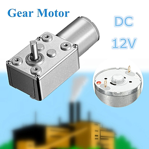 65RPM 12V DC Motor High Torque Reduction Worm Reversible Turbo Geared  Strong Powerful