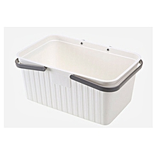 Japanese-style portable bath basket bathroom plastic storage