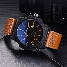 Olivaren GONEWA Men Sport Watch Fashion Military Analog Date Quartz Wrist Daily WatchCoffee