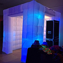 2 Door 2.5M Inflatable LED Light Photo Booth Tent Party Birthday Wedding 110V UK Plug