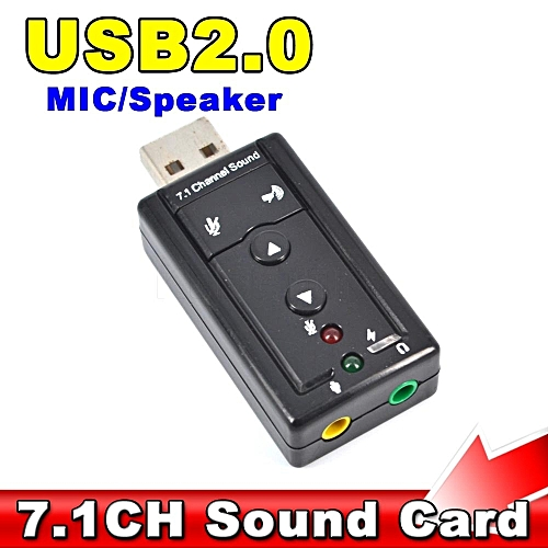 1Pcs External USB Audio sound card Adapter Virtual 7 1ch USB2 0 Audio  Headset Microphone 3 5mm Jack Converter For Win 7 8