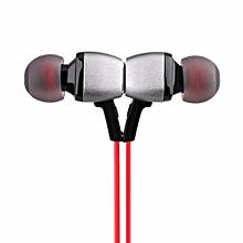 Bluetooth Headsets, M6 Wireless Sport Earphone Bluetooth 4.5 Stereo Ear Hook Magnet Earbud(Red)