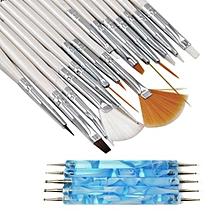 20PCS Nail Art Design Dotting Painting Drawing Polish Brush Pen Tool