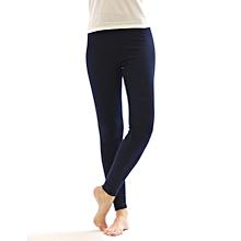 Girls Navy Blue Basic Full Length Leggings