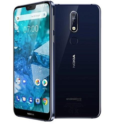 NOKIA 6.1 Plus 5.8-Inch (4GB, 64GB ROM), 16MP/5MP DUAL REAR CAMERA 16MP FRONT CAMERA, Dual Sim, 4G Smartphone - blue