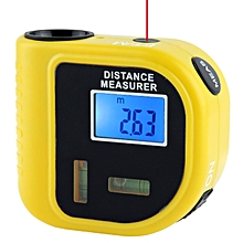 Ultrasonic Distance Measure Measurer with Laser Pointer, Range: 0.5-18m (CP-3010)(Yellow)