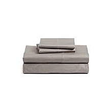 4 Piece Slate Grey Fitted Bed-sheet Set