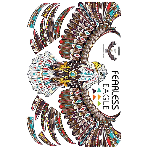 Fearless Eagle TV Background Wall Decoration Removable Wall Stickers
