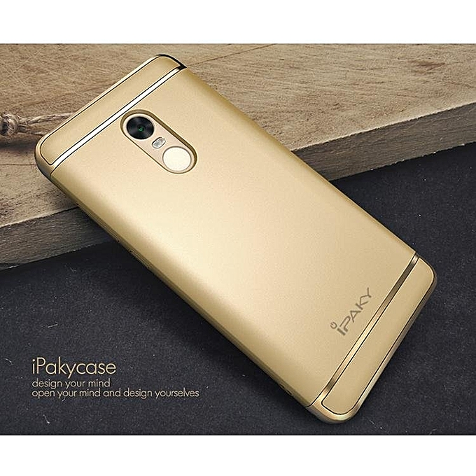 IPAKY Metallic Plating 3-In-1 Hard Shell For Xiaomi Redmi Note 4 -