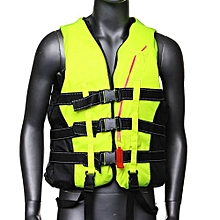 Life Jacket Vest PFD Fully Enclose Foam Adult Boating  Size XL + Whistle