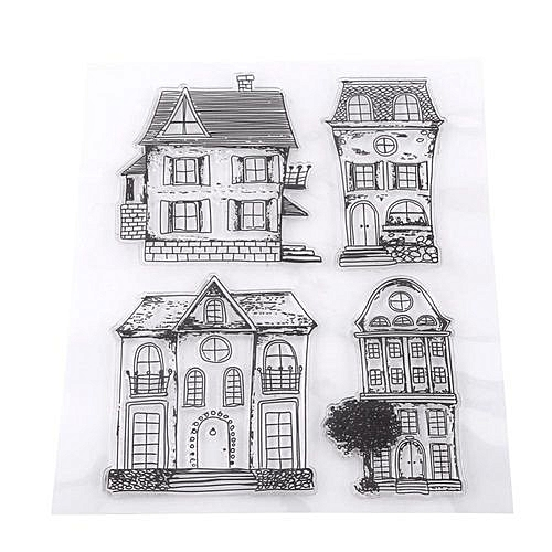 UNIVERSAL Rubber Stamp For Scrapbook Photo Cards House