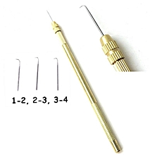 3 Size Ventilating Needles(1-2,2-3,3-4)+1 Brass Holder