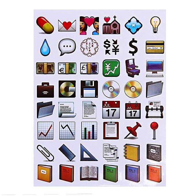 Novelty Emoji Sticker Paster For Home Decor Phone Decoration Jumia Kenya