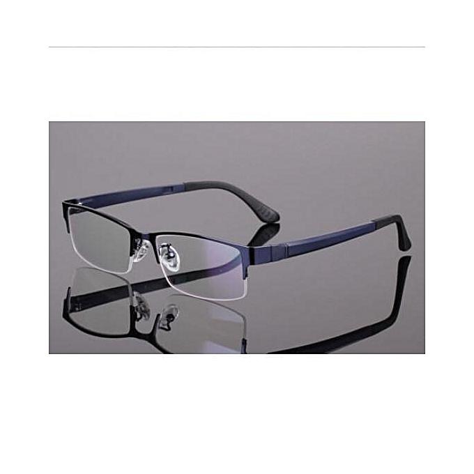 b43215662d0d Men Women Metal Half Rimless Glasses Optical Eyeglasses Frame Spectacles  Eyewear