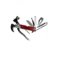 Multipurpose Hammer Knife + Carry Pouch Tool Kit
