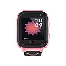 DS38 Children Smart Watch Support SIM SOS Call Kids Tracker Bluetooth Watch Pink