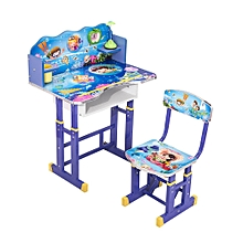 Kids' Study Desk - Blue & White