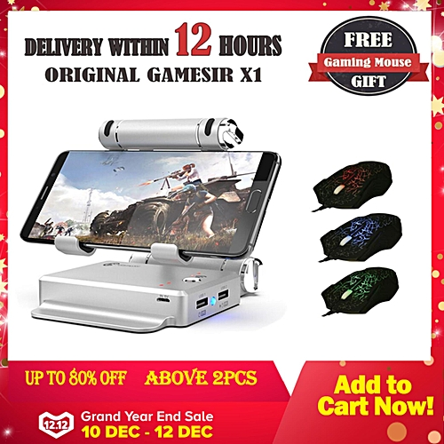 GameSir X1 BattleDock Keyboard and Mouse Converter for Hot PUBG Like, FPS,  RoS, Mobile Legend games, Phone Holder(one gameing mouse free) PLAYER
