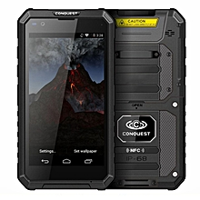 Conquest S10, 3GB+32GB, Walkie Talkie Function, RFID, Scanner, 5000mAh Battery, IP68 Waterproof Dustproof Shockproof, Fingerprint Identification, 5.5 inch Android 6.0 MTK6753 Octa Core up to 1.5GHz, Network: 4G, NFC, OTG, IR(Black)
