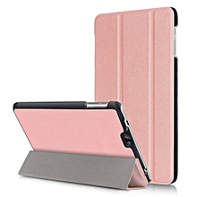 """For Dragon Touch S8 Case, Ultra Slim Hard Case + PU Leather Smart Cover Stand For Dragon 7.0"""" Tablet Touch S8, Rose Gold"""