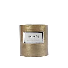 Pillar Candle - 7cm x 7.5cm - Gold