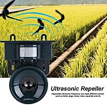 Solar Powered PIR Motion Sensor Ultrasonic Pest Repeller Bird Dog Cat Fox Mouse Chaser