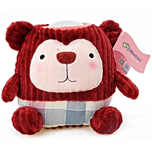 Kids Lovely Novelty Cartoon LED Light Lamp Cotton Doll Toy - Deep Red