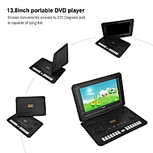 13.8inch Portable DVD Player 800*480 Resolution Built-in Audio Support SVCD VCD CD CD-R/RW EU Plug