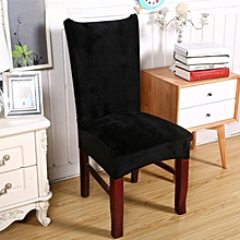 Ultra-soft Faye velvet thickened plus velvet warm chair cover fabric stool cover elastic chair back cover chair cover seat cover # 7