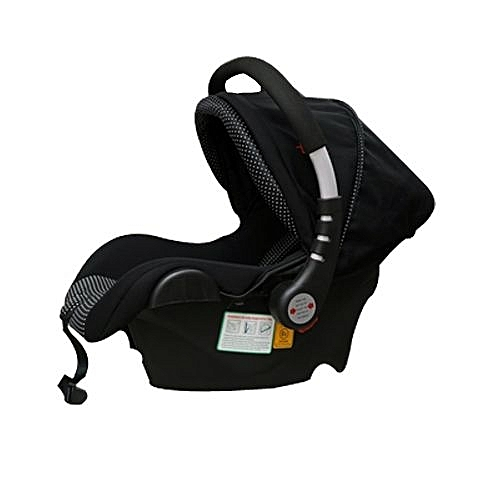 Infant Baby Car Seat Carry Cot Black And White Polka Dots Big