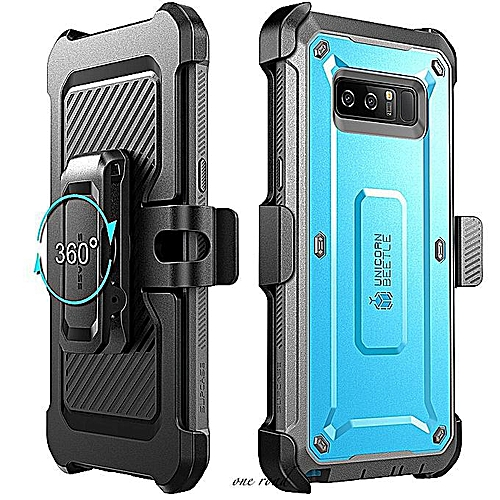the latest 95ca6 82750 Supcase Samsung Galaxy Note 8 Case Full-Body Rugged Holster Clip Case With  Screen Protector Unicorn Beetle Shield Series (Blue)