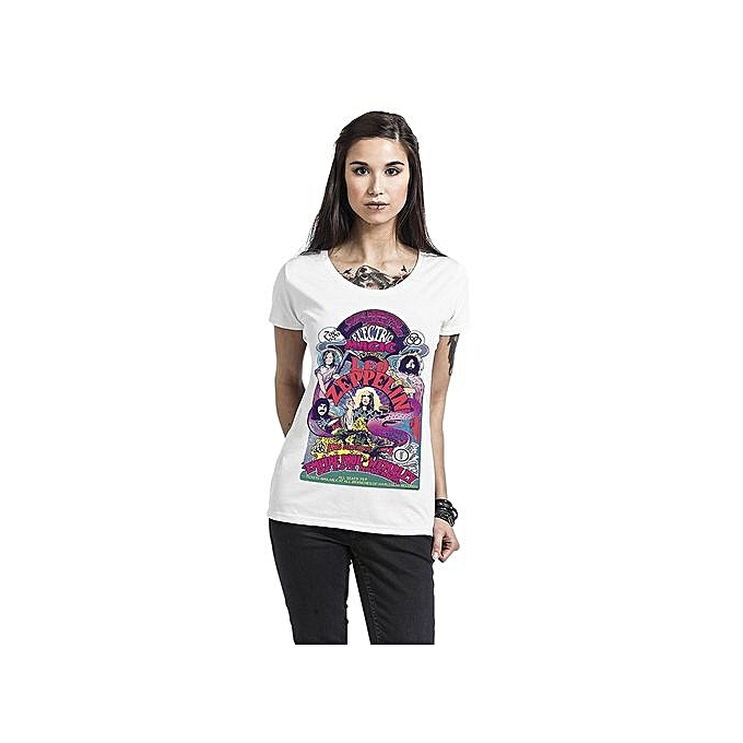 e66fca2a Led Zeppelin Electric Magic Girls T Shirt Loose Short Sleeve Summer Fashion Women's  T-shirt