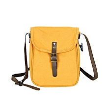 Africanmall store Leisure Shopping Travel Canvas Shoulder Bag Handbag Bag Inclined Shoulder Bag-Yellow
