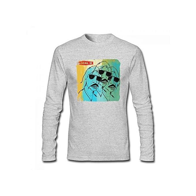 82487bf9 Generic Local H Men's Cotton Long Sleeve T-shirt Grey @ Best Price ...