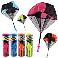 Parachute Toy Throw and Drop outdoor Fun Toy Outdoor Sports Toys Random Color With Soldier Doll-