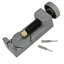 Metal Adjustable Watch Band Bracelet Repair Tool Link Pin Remover 3 Pins-Gray