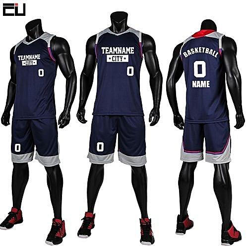 fb417ca45 Longo Children Boy And Men s Customized Basketball Team Sports Jersey  Uniform-Dark Blue(GY7304)