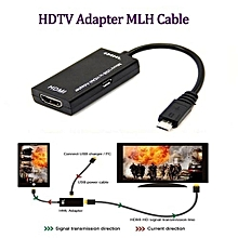 MHL Adapter Micro USB to HDMI Cable for Phone Tablet - Black