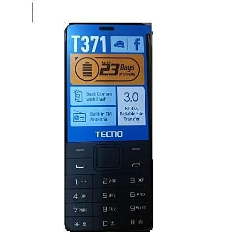 "T371 - 2.4"" Dual Sim Mobile Phone - black"
