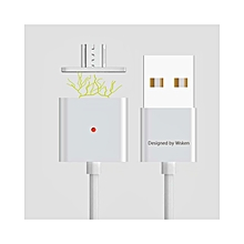USB Charging Cable Wsken Magnetic Double Alloy Micro  For Android Phones And Tablets - Silver