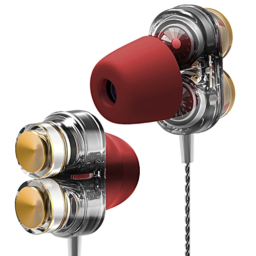 QKZ KD7 Dual Dynamic Driver Professional In Ear DJ Earphone with Microphone Line Control