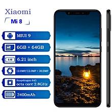 Xiaomi Mi 8 4G Phablet (6GB RAM + 64GB ROM) MIUI 9 Snapdragon 845 Octa Core - BLACK