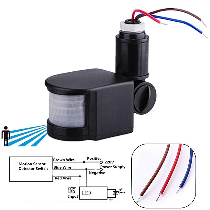 Diagram Led 220v Infrared Pir Motion Sensor Detector Wall Light