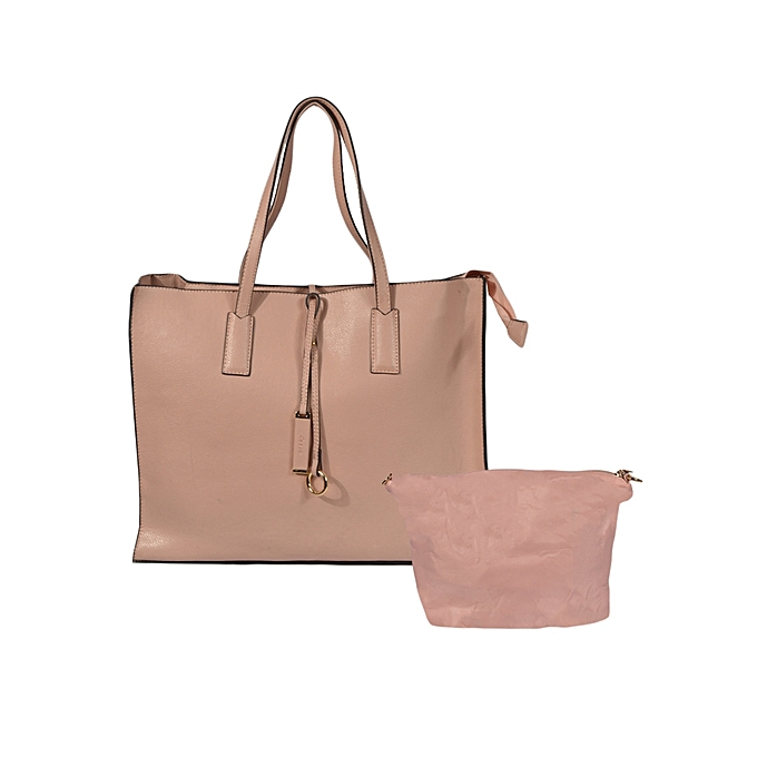 e38809730735ca Generic Nude Pink Fashionable Tote Bag with Zip @ Best Price | Jumia ...