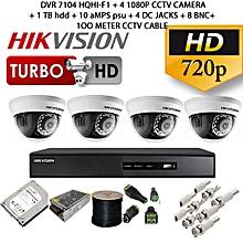 4-camera pack CCTV KIT, 500 GB hard disk