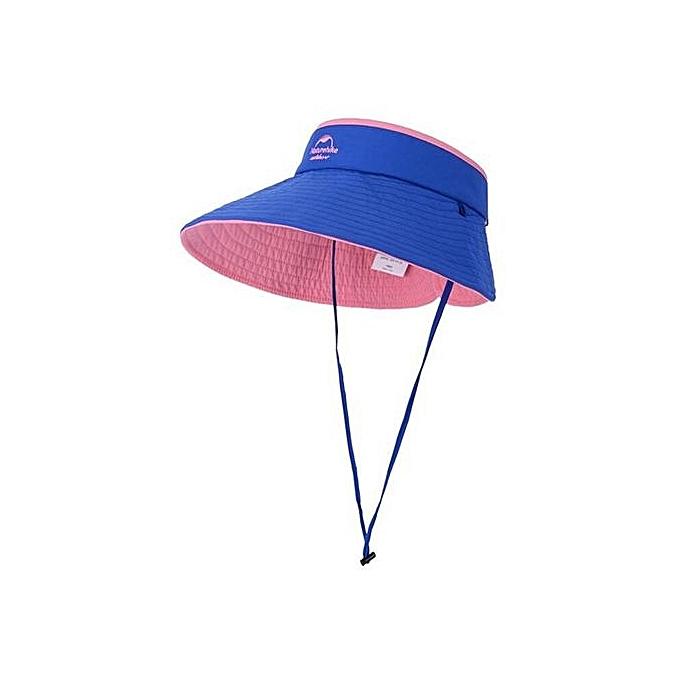 Women s Sun Hat Breathable Folding Empty Top Cap Outdoor Anti-UV Beach Hat (Blue ce4b2529ee6